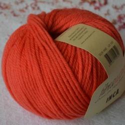 Fibranatura Моточная пряжа Inca материал меринос цвет апельсин 43002