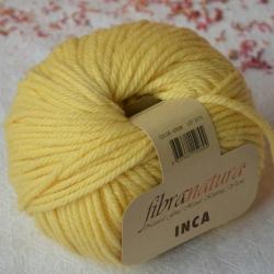 Fibranatura Моточная пряжа Inca материал меринос цвет лимонный 43008