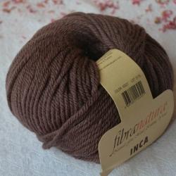 Fibranatura Моточная пряжа Inca материал меринос цвет шоколад 43027