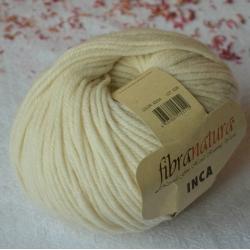 Fibranatura Моточная пряжа Inca материал меринос цвет молочный 43034