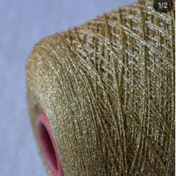 Scintex Пряжа на бобинах Toreador материал вискоза цвет светлое золото