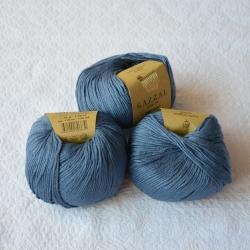 Gazzal Fancy Yarns Моточная пряжа Organic Baby Cotton материал  органическиий хлопок цвет тертый джинс 434