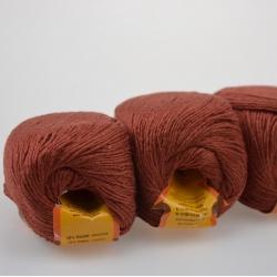Lanoso Моточная пряжа Papillon материал  хлопок+вискоза цвет корица 16
