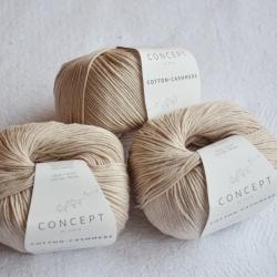Katia Моточная пряжа Cotton-Cashmere материал  кашемир+хлопок цвет beige 54