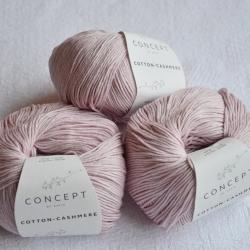 Katia Моточная пряжа Cotton-Cashmere материал  кашемир+хлопок цвет light mauve 64