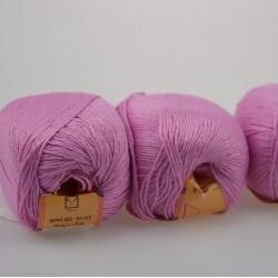 Lanoso Моточная пряжа Papillon материал  хлопок+вискоза цвет розовая сирень 946