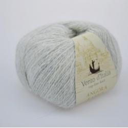 Vento d'Italia Моточная пряжа Angora 70 Rabbit материал ангора цвет светло-серый меланж 32