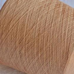 New Mill Пряжа на бобинах Lustroso материал лен цвет нюдовый в золото