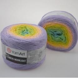 Yarnart Моточная пряжа Flowers Moonlight материал хлопок +люрекс цвет  мултиколор 3285