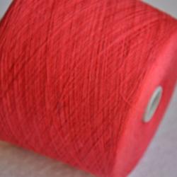 New Mill Пряжа на бобинах Lustroso материал лен цвет коралл