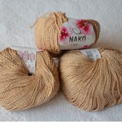 Nako Моточная пряжа Fiore материал  смесовка цвет песок 10308