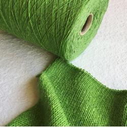 New Mill Пряжа на бобинах Tiffany материал смесовка цвет французская зелень с вкраплениями лаванды
