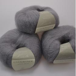 Casagrande Моточная пряжа Kidsilk материал кидмохер, шелк цвет серый