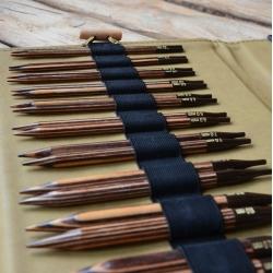 Набор деревянных спиц  Махараджа (кожанный чехол)