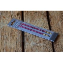 Разъемные спицы Lana Grossa, дерево (разноцветное Signal), 11,5, № 4,0