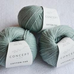 Katia Моточная пряжа Cotton-YAK материал  хлопок+як цвет pastel green 111