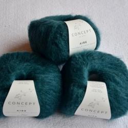 Katia Моточная пряжа Aire материал  суперкидмохер+ бэби альпака цвет green blue 123