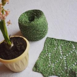Fashion Mill Пряжа на бобинах Amanpuri материал шелк +хлопок цвет весенняя листва