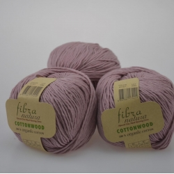 Fibranatura Моточная пряжа Cottonwood материал органический хлопок цвет припыленный лиловый 41151