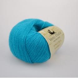 Vento d'Italia Моточная пряжа Angora 70 Rabbit материал  ангора цвет голубая бирюза  39