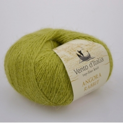 Vento d'Italia Моточная пряжа Angora 70 Rabbit материал ангора цвет светлая олива 36