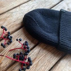 МК для ручного вязания Головной убор мужская шапка с Millennium