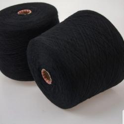 Botto Giuseppo Пряжа на бобинах Cashmere Vintage материал кашемир  цвет черный