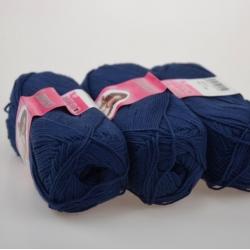 Lanoso Моточная пряжа Gentle материал  хлопок цвет темно-синий 958